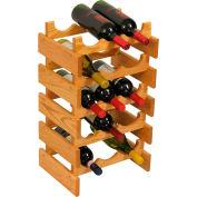 "15 Bottle Dakota™ Wine Rack, Light Oak, 23-3/4""H"