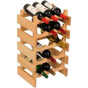 """15 Bottle Dakota™ Wine Rack, Unfinished, 23-3/4""""H"""