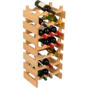 """21 Bottle Dakota™ Wine Rack, Unfinished, 33""""H"""