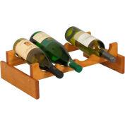 "4 Bottle Dakota™ Wine Rack, Medium Oak, 5-1/4""H"