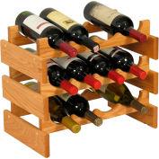 "12 Bottle Dakota™ Wine Rack, Light Oak, 14-1/2""H"