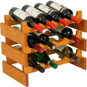 "12 Bottle Dakota™ Wine Rack, Medium Oak, 14-1/2""H"