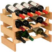 """12 Bottle Dakota™ Wine Rack, Unfinished, 14-1/2""""H"""