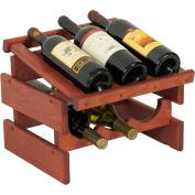"6 Bottle Dakota™ Wine Rack with Display Top, Mahogany, 11-3/4""H"