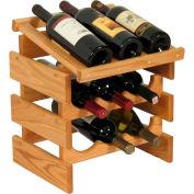 "9 Bottle Dakota™ Wine Rack with Display Top, Light Oak, 16-3/8""H"