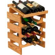 "12 Bottle Dakota™ Wine Rack with Display Top, Light Oak, 21""H"