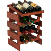 "12 Bottle Dakota™ Wine Rack with Display Top, Mahogany, 21""H"