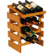 "12 Bottle Dakota™ Wine Rack with Display Top, Medium Oak, 21""H"