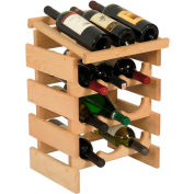 "12 Bottle Dakota™ Wine Rack with Display Top, Unfinished, 21""H"