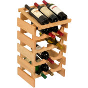 "15 Bottle Dakota™ Wine Rack with Display Top, Unfinished, 25-5/8""H"