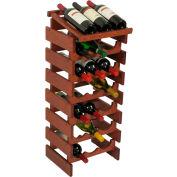 "21 Bottle Dakota™ Wine Rack with Display Top, Mahogany, 34-7/8""H"