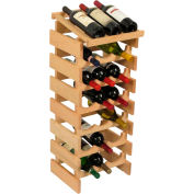 "21 Bottle Dakota™ Wine Rack with Display Top, Unfinished, 34-7/8""H"