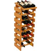 "24 Bottle Dakota™ Wine Rack with Display Top, Light Oak, 39-1/2""H"