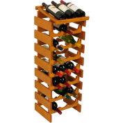"24 Bottle Dakota™ Wine Rack with Display Top, Medium Oak, 39-1/2""H"