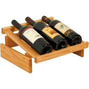 "3 Bottle Dakota™ Wine Display, Light Oak, 6-1/2""H"