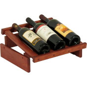 "3 Bottle Dakota™ Wine Display, Mahogany, 6-1/2""H"
