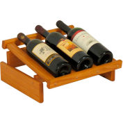 "3 Bottle Dakota™ Wine Display, Medium Oak, 6-1/2""H"