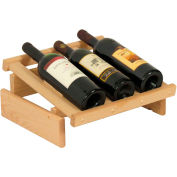 "3 Bottle Dakota™ Wine Display, Unfinished, 6-1/2""H"