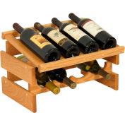 "8 Bottle Dakota™ Wine Rack with Display Top, Light Oak, 11-3/4""H"