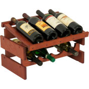 "8 Bottle Dakota™ Wine Rack with Display Top, Mahogany, 11-3/4""H"