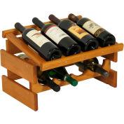 "8 Bottle Dakota™ Wine Rack with Display Top, Medium Oak, 11-3/4""H"