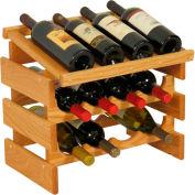 "12 Bottle Dakota™ Wine Rack with Display Top, Light Oak, 16-3/8""H"