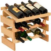 "12 Bottle Dakota™ Wine Rack with Display Top, Unfinished, 16-3/8""H"