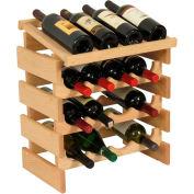 "16 Bottle Dakota™ Wine Rack with Display Top, Unfinished, 21""H"