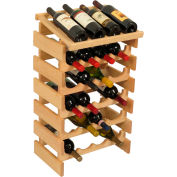 "24 Bottle Dakota™ Wine Rack with Display Top, Unfinished, 30-1/4""H"