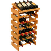 "28 Bottle Dakota™ Wine Rack with Display Top, Light Oak, 34-7/8""H"