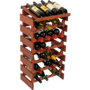 "28 Bottle Dakota™ Wine Rack with Display Top, Mahogany, 34-7/8""H"