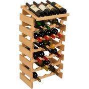 "28 Bottle Dakota™ Wine Rack with Display Top, Unfinished, 34-7/8""H"