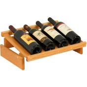 "4 Bottle Dakota™ Wine Display, Light Oak, 6-1/2""H"