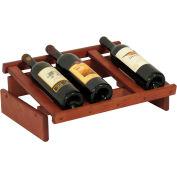 "4 Bottle Dakota™ Wine Display, Mahogany, 6-1/2""H"