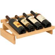 "4 Bottle Dakota™ Wine Display, Unfinished, 6-1/2""H"
