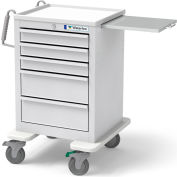 Waterloo Short & Slim 5 Drawer Economy Cart ESGKU-33366-LTG