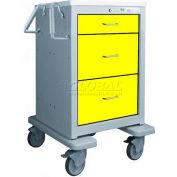Waterloo 3 Drawer Junior Short Steel Isolation Cart JSGKU-399-YEL
