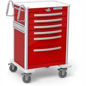 Waterloo 6 Drawer Tall Lightweight Aluminum Crash Cart UTRLA-333369-RED