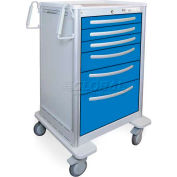 Waterloo 6 Drawer Extra-Tall Lightweight Aluminum Anesthesia Cart UXGKA-333669