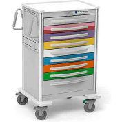 Waterloo 9 Drwr. Aluminum Pediatric Code Cart Emergency Medical Cart UXGLA-9PEDS