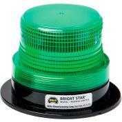 Wolo® Strobe Warning Light Permanent Mount 12-110 Volt Green Lens - 3367P-G