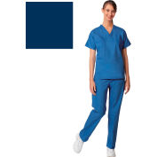 Unisex Set-In Sleeve Scrub Shirt, Reversible, Navy, 5XL