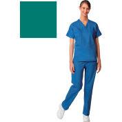 Unisex Set-In Sleeve Scrub Shirt, Reversible, Jade, L