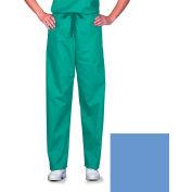 Unisex Scrub Pants, Non-Reversible, Ciel Blue, XS