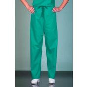 Fashion Seal Unisex Non-Reversible Scrub Pants, Cotton/Polyester, XL, Teal