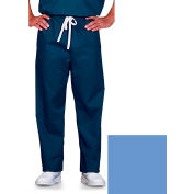 Unisex Scrub Pants, Reversible, Ciel Blue, 4XL