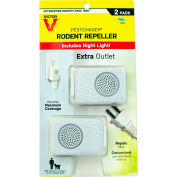 Victor Pestchaser Rodent Repellent with Nightlight & Extra Outlet, Sonic Repellent - 2/Pack - M752PS