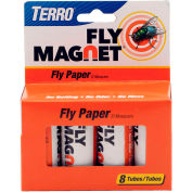 TERRO® Fly Magnet Sticky Fly Paper Trap, 8-Pack - T518