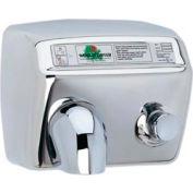 World Dryer Pushbutton Hand Dryer - 115V, Brushed SS - DA5-973