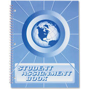 "Ward® Student Assignment Book SA98, 11"" x 8-1/2"", White, 1 Each"